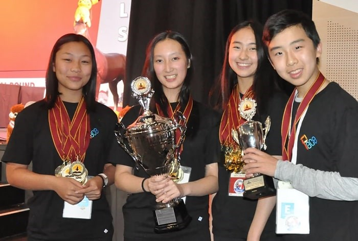 The Scholar's Cup team show off their medals and trophies. Photo: PACE Learning Community