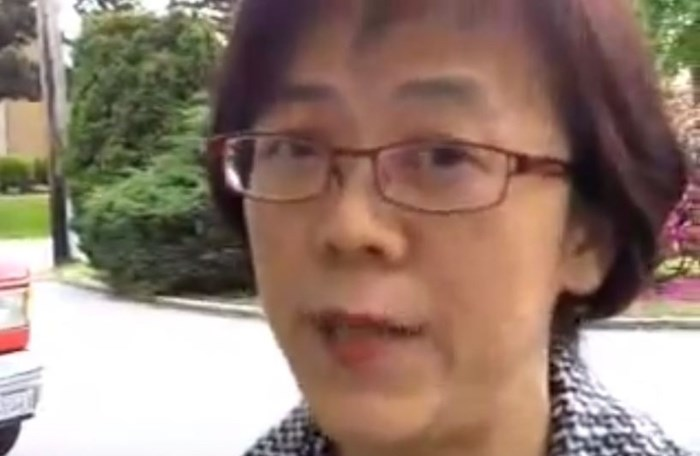 Burnaby North-Seymour Conservative candidate Heather Leung was interviewed by the Burnaby NOW in 2011. Screenshot.