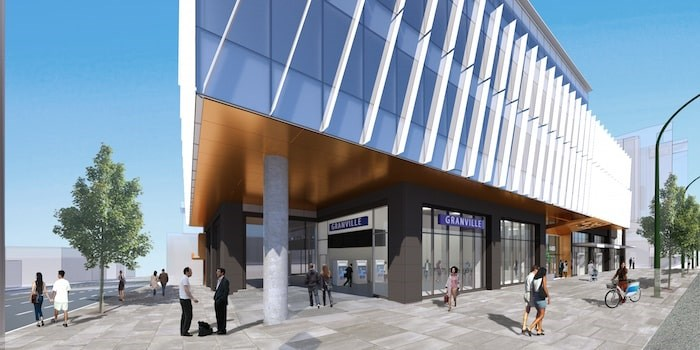Overall transit entrance. Rendering courtesy of PCI Developments