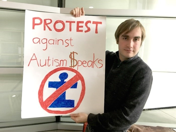 Sam McCulligh and his group Autistics United will protest a fundraising march put on by Autism Speaks. Photo by Maria Rantanen/Richmond News