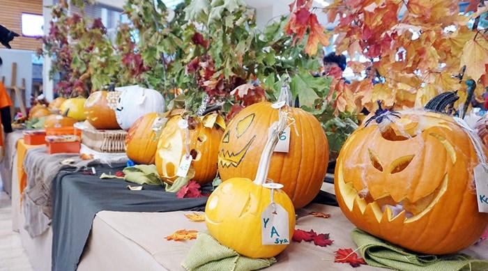 The pumpkin carving competition at PumpkinFest: West Vancouver Community Centre