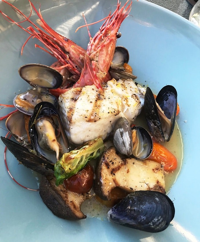 A seafood bowl from Back Eatery. Photo Sandra Thomas