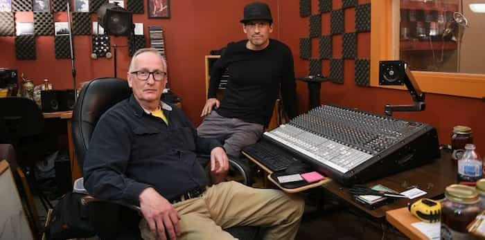 Rick Welin and Doug Fury at the now-defunct Clark Drive Studios.