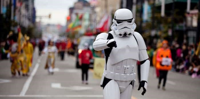 The Star Wars 501st Legion is just one of several groups taking part in the sixth annual Vancouver Halloween Parade & Expo Oct. 11 to 13. Photo: GoToVan