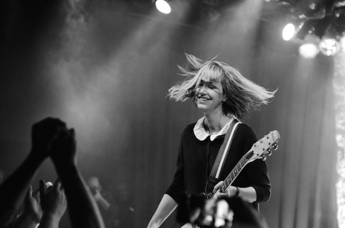 Kim Shattuck and her band the Muffs performed at the Commodore in 2017, playing with the Smugglers. It would be their final show. Photo Paul Clarke