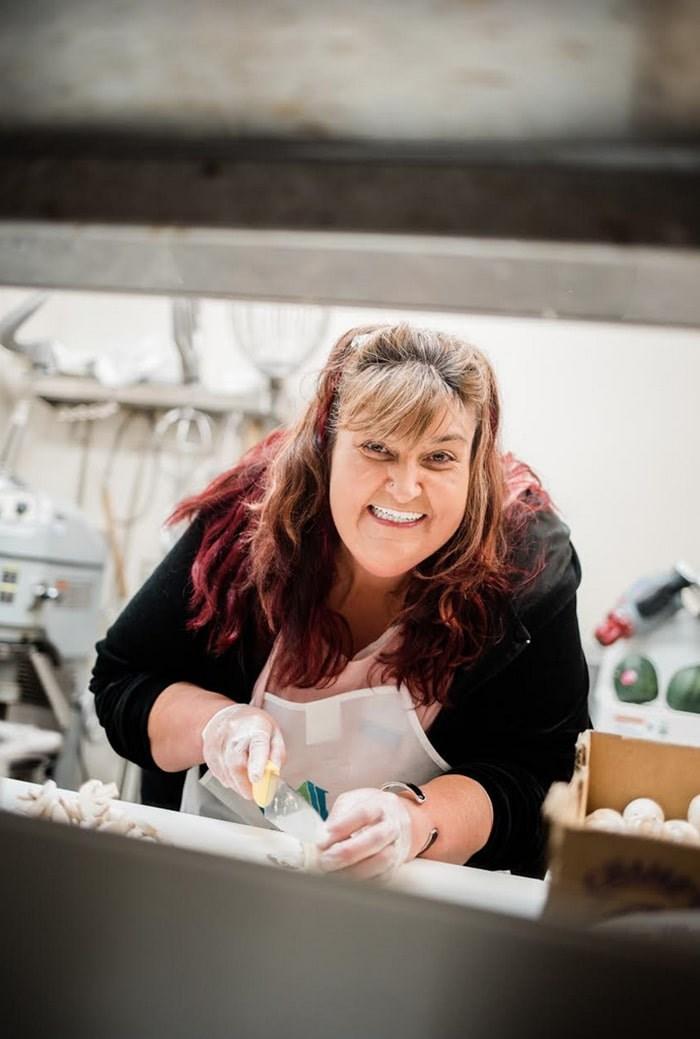 Jacki Stock in the UGM kitchen. Photo: UGM/Andrew Taran