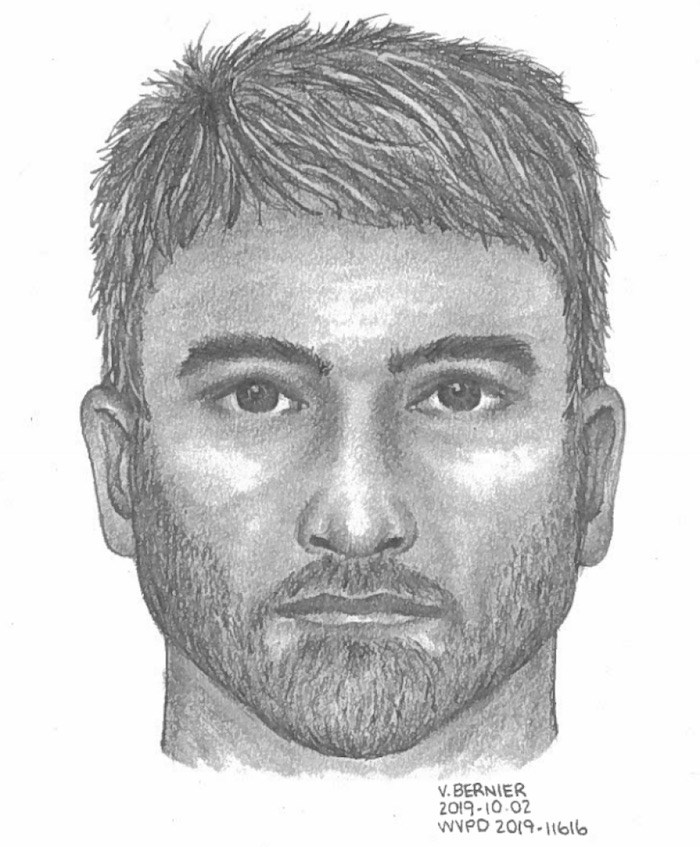 West Vancouver police released this composite sketch of a suspect who allegedly exposed himself to a woman who was cycling in the British Properties. Anyone with information is asked to contact the West Vancouver police. Image courtesy West Vancouver Police Department