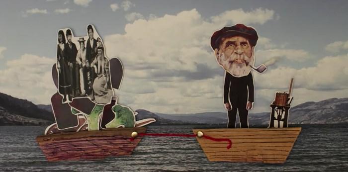 Captain Shorts ran the first ferry service up and down Okanagan Lake. Screengrab