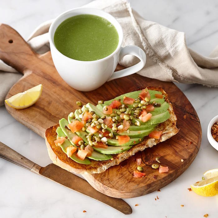 Items on the menu at Copper Branch include things like matcha lattes and avocado toast - all vegan.