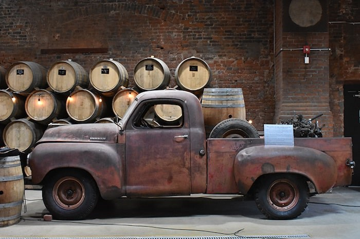 Shawn & Ed Brewing Co. is housed in a historic former curling and skating rink and features one of the original Studebaker pickup trucks that were manufactured in Dundas. Photo by Rob Mangelsdorf