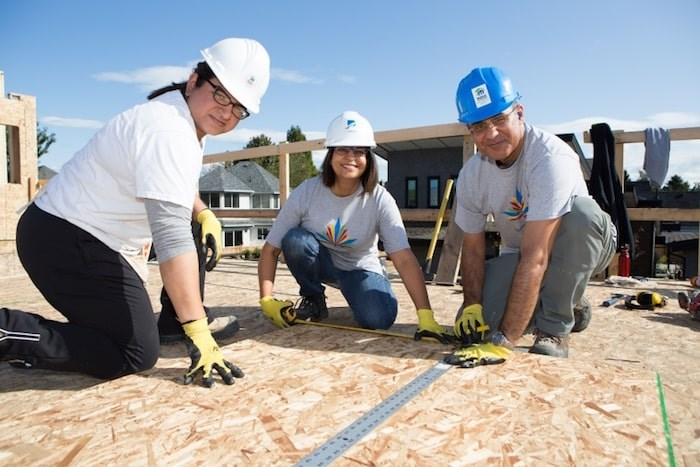 The Ismaili community focuses its volunteer activities on the last weekend of September. One project this year was on a Habitat for Humanity construction site. Photo submitted