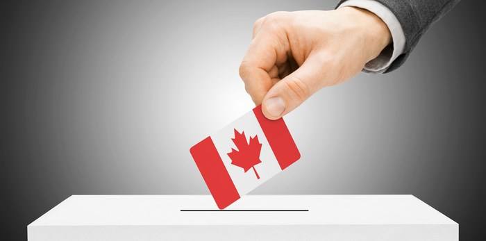 Voting in the Canadian federal election/Shutterstock