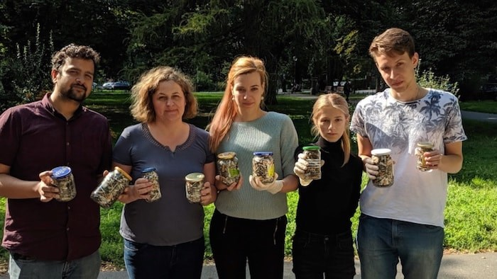 After reading Grant Lawrence's column about cigarette butts, Bogna Haponiuk (middle) was inspired to create a Cigarette Butts Cleanup Calculator. Photo courtesy of Bogna Haponiuk