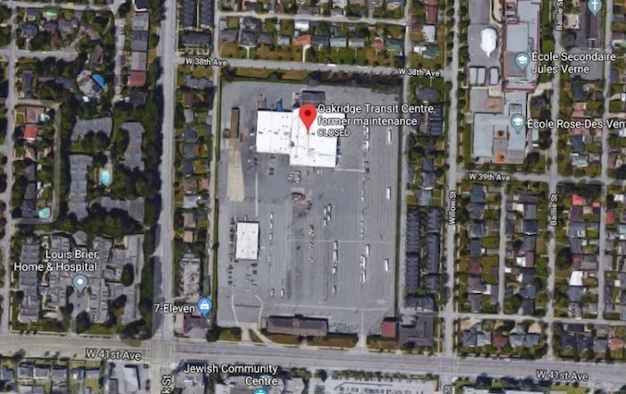 Google Satellite View of the site.