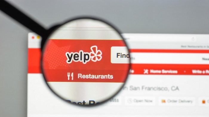 B.C. Supreme Court has tossed out a lawyer's attempt to sue online review company Yelp for defamation after a client's bad review of him. Photo: Yelp/Shutterstock
