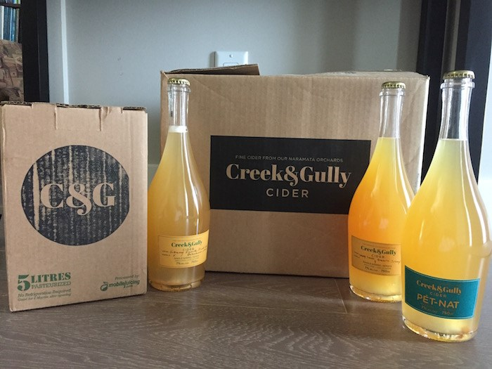 Naramata's Creek & Gully ferments and carbonates its cider naturally. Photo by Nolan Bonney