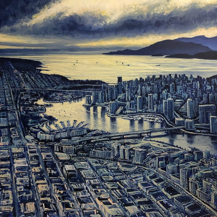 A painting by Vancouver Artist David Wilson titled 'The Other Side' in his latest exhibition, 'Everywhere From Here.' Photo: David Wilson