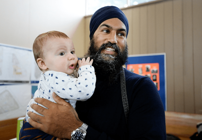 NDP leader Jagmeet Singh has seen a small uptick in polls during the campaign. That uptick could mean the difference in ridings his party identifies with — namely urban and diverse ones, such as Surrey Centre and Surrey-Newton Photo: Burnaby Now