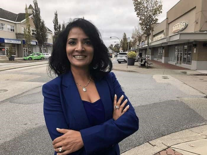 Surrey Board of Trade executive director Anita Huberman wants to see federal dollars for transportation infrastructure and an open U.S. border for trade. Pictured her in the Newton riding, small business taxes must be kept low, says Huberman Photo: Graeme Wood