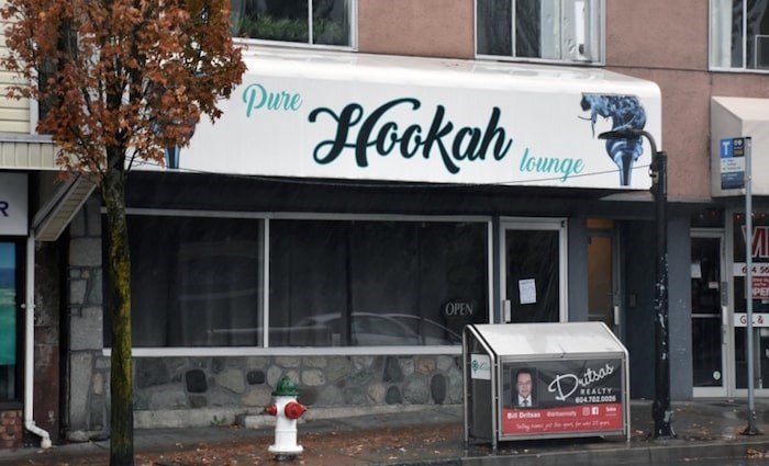 Pure Hookah Lounge opened near the Vancouver border in 2017, but has since had its business licence cancelled by the city. Photo by Kelvin Gawley/Burnaby NOW