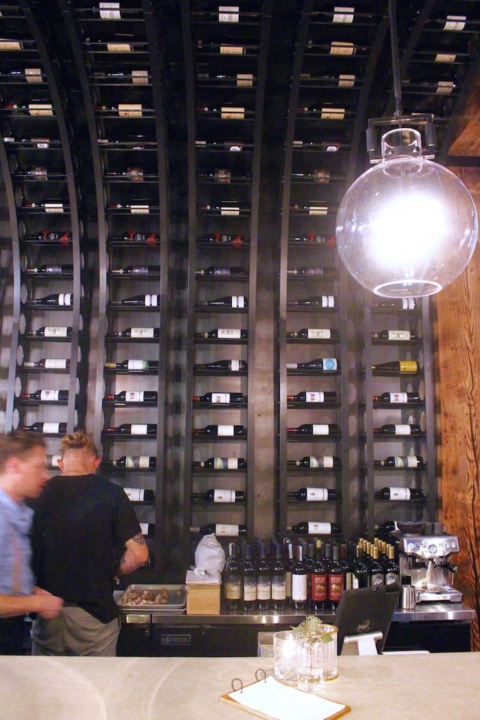 The stunning wine rack. Photo by Lindsay William-Ross/Vancouver Is Awesome
