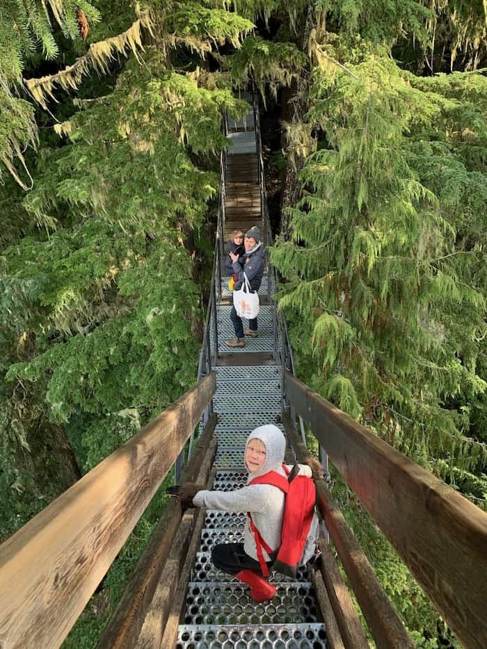 A more mature and responsible Grant Lawrence enjoys a Treetrek Tour at Blackcomb Mountain with his family.