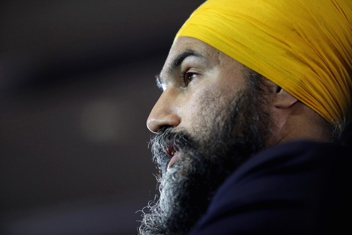 NDP Leader Jagmeet Singh, pictured at his election night