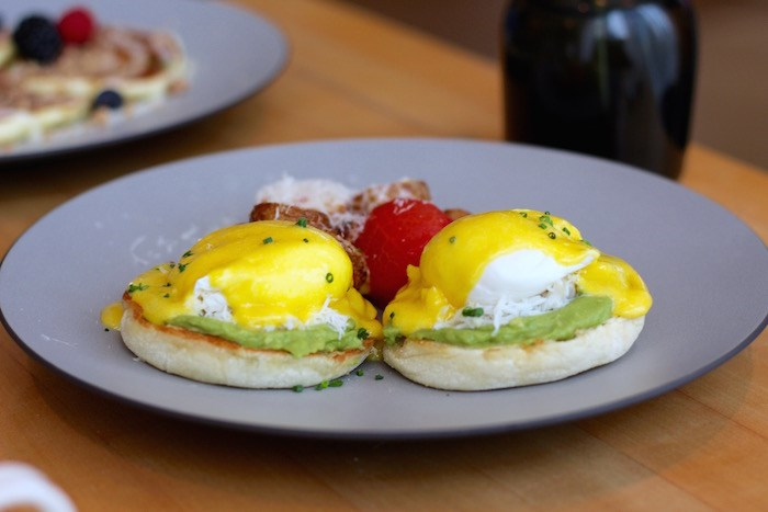 Crab and Avocado Eggs Benny at Botanist. Photo by Lindsay William-Ross/Vancouver Is Awesome