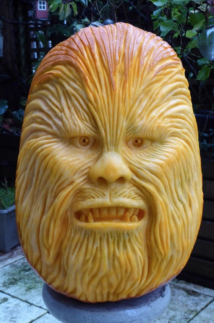 One of Clive Cooper's pumpkin carvings. Photo: Sparksfly design