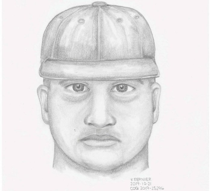The sexual assault suspect is a man believed to be in his late 20s or early 30s and is described as Caucasian or mixed-ethnicity. Image courtesy Coquitlam RCMP