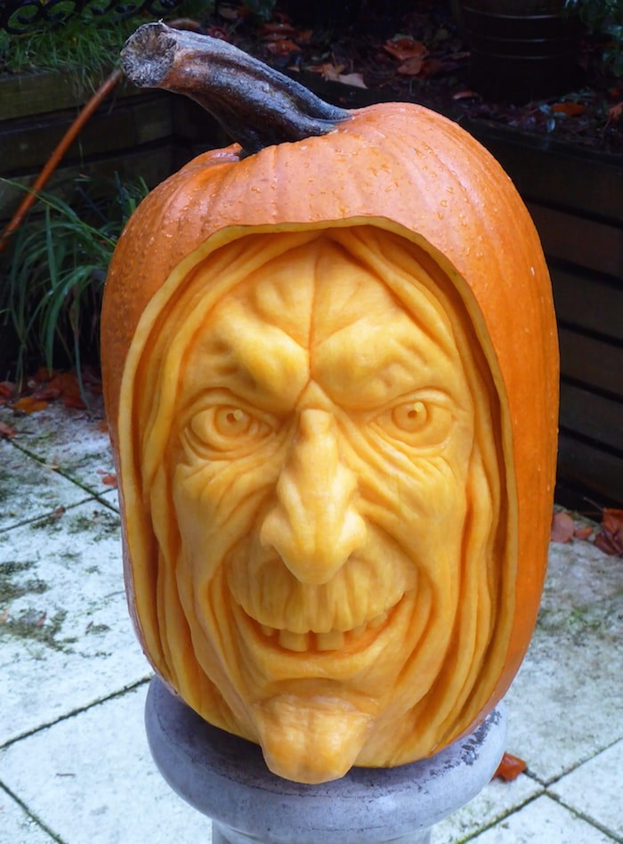 A witch carving. Photo courtesy Clive Cooper