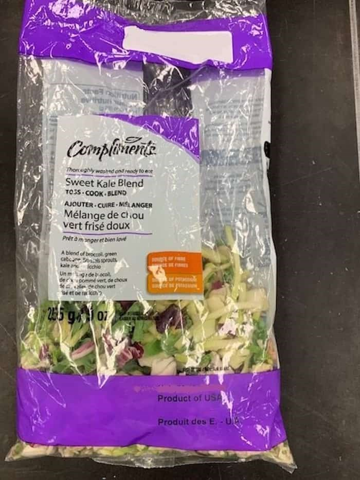 Sobeys Inc. has issued a kale recall of a popular brand. Photo: Canadian Food Inspection Agency