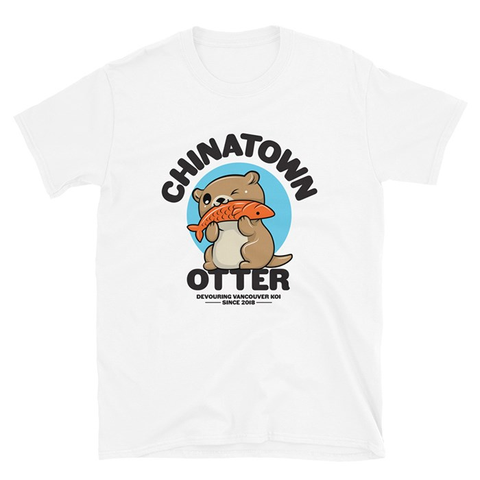 Our Chinatown Otter t-shirt is available exclusively through our online store