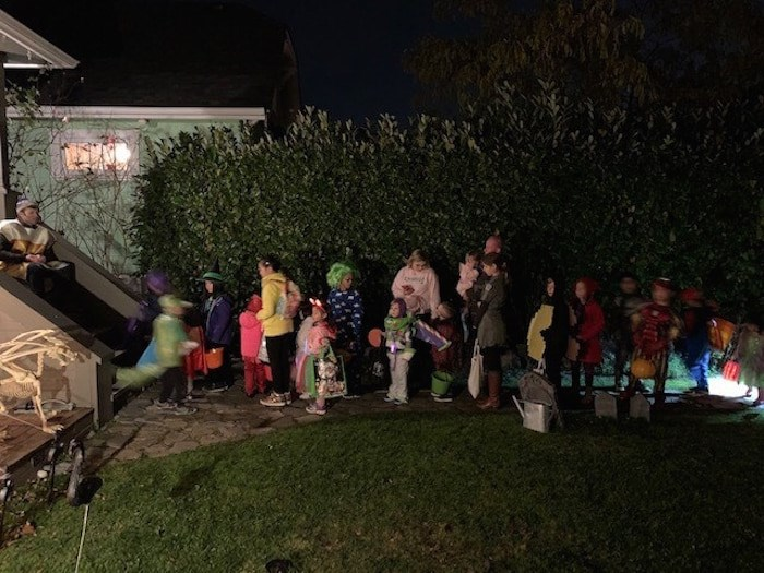 The popularity of Trinity Street's Halloween traditions has grown organically, say residents. It has become wildly popular for trick-or-treating. Photo courtesy of Grant Lawrence