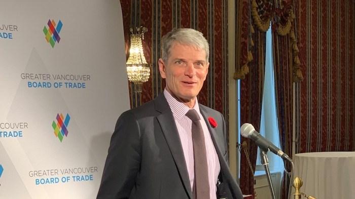 TransLink CEO Kevin Desmond addresses media at a press conference at the Fairmont Hotel Vancouver. Photo by Glen Korstrom/BIV