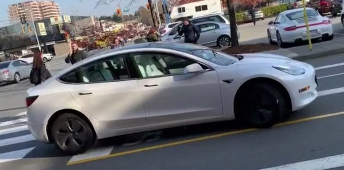 A Tesla owner used a new