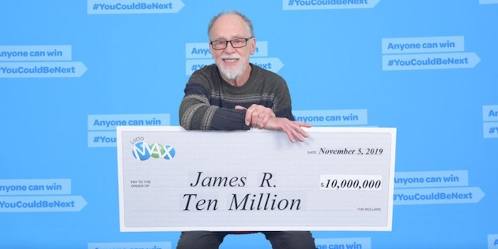Vancouver resident James Russell won $10 million in Lotto Max. BCLC photo