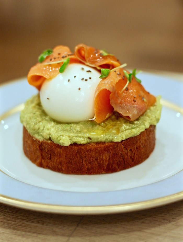 Ladurée brioche toast with avocado, smoked salmon, and poached egg. hoto by Lindsay William-Ross/Vancouver Is Awesome