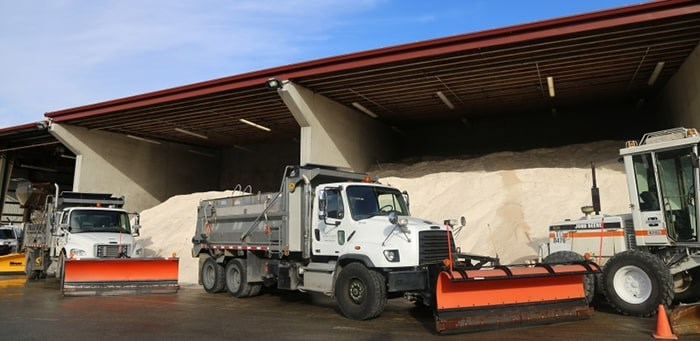 The City of Vancouver has close to 10,000 metric tons of salt at the ready.