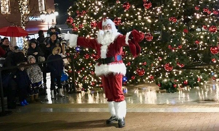 The big man in red will be on hand for The Big Switch On, Nov. 14. Photo: McArthurGlen Vancouver/Facebook