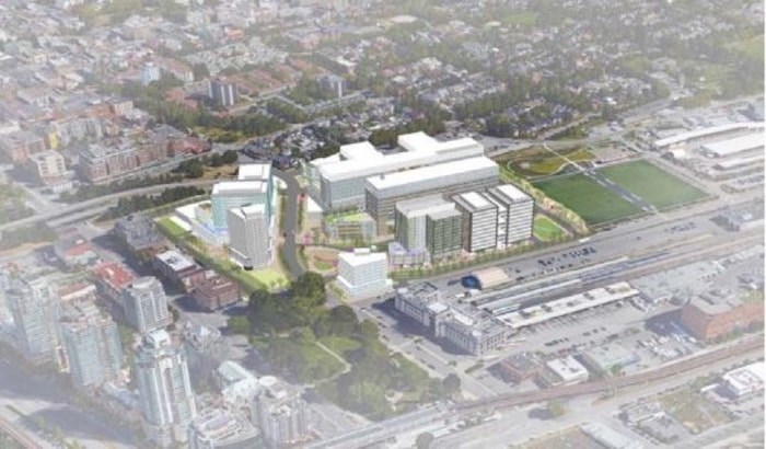 Rendering of new St. Paul's hospital project.