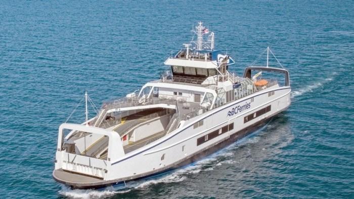 Island Class hybrid electric ferry conducting sea trials. Photo courtesy BC Ferries