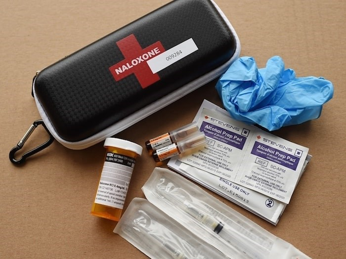 The B.C. government announced that pharmacies in the province will offer free naloxone kits. Naloxone can reverse a drug overdose by helping restore a person's breathing. Photo by Dan Toulgoet