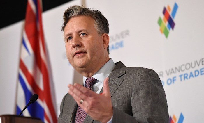 Mayor Kennedy Stewart delivered his 'state of the city' address Thursday to the Greater Vancouver Board of Trade. Photo by Dan Toulgoet/Vancouver Courier