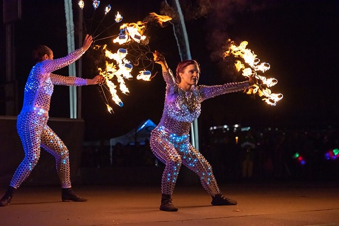 The Lights at Lafarge kick-off event will include a fire show. Photo: City of Coquitlam