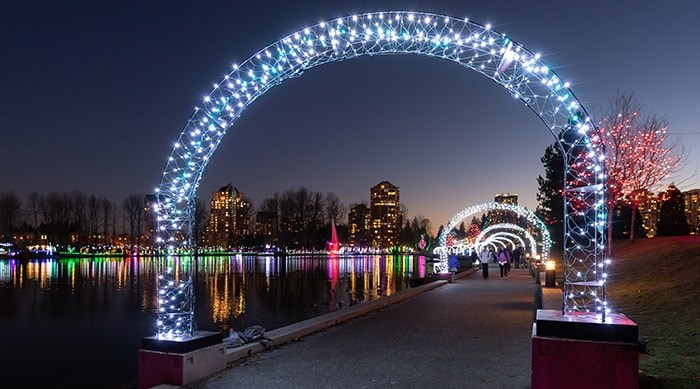 The Lights at Lafarge will once again illuminate the season from November to January. Photo: City of Coquitlam