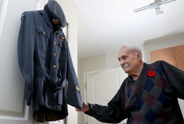 Port Coquitlam resident Norman Gill is one of Canada's oldest Second World War veterans.Photograph By MARIO BARTEL/THE TRI-CITY NEWS