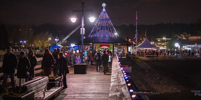 Holiday Cheer at the Pier is the kick-off to the festive season at the picturesque Rocky Point Park in Port Moody. Photo via City of Port Moody/portmoody.ca