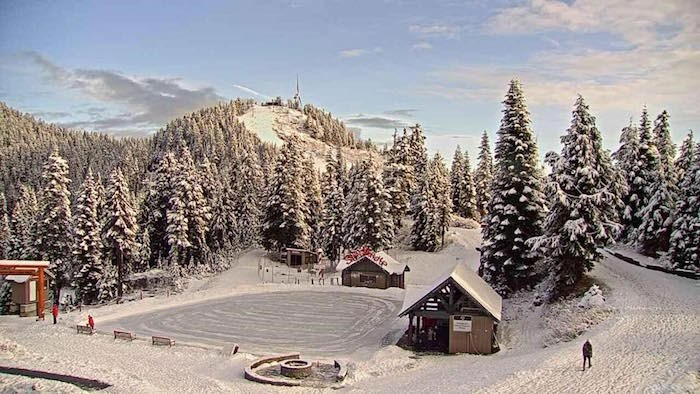 The outdoor skating pond at Grouse Mountain's Peak of Christmas. Photo: