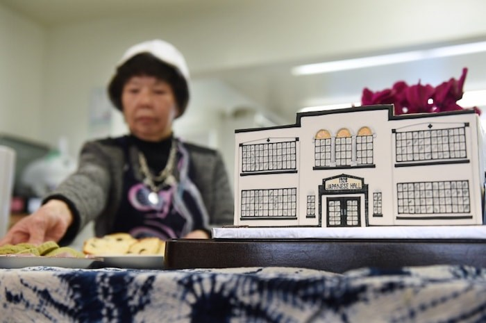 A cake replicating the Japanese Hall was served up as part of Wednesday's celebrations. Photo by Dan Toulgoet/Vancouver Courier